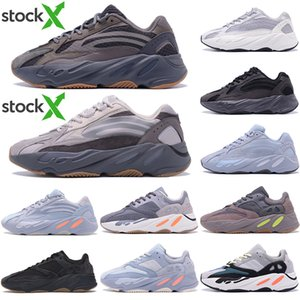 3M Reflective corridore dell'onda Kanye West 700 v2 Solid statici grigio Magnet Teal carbonio Blu Runing Scarpe Designer Uomo Donna Static Sneakers