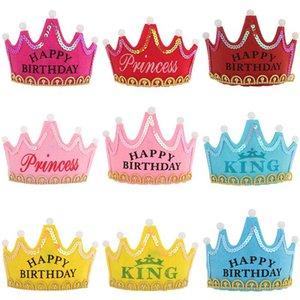 Светодиодный свет до рождения Hat принцессы короля С Днем Рождения Crown Cap оголовье Christmas Party Decor оголовье без батареи