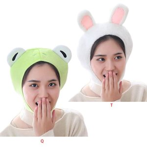 Women Girls Frog Animal Earflap Hat Winter Warm Plush Beanie Cap Mask Cosplay Costume Party Supplies Photo Props