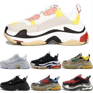 2020 Triple S homens mulheres plataforma sapatos moda sapatilhas preto branco cinza roxo vintage trainers ocasionais ao ar livre jogging tamanho de passeio 36-45