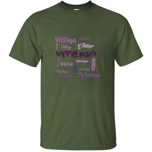 Personalized Customized Vitiligo Vitiligo T Shirt For Mens Cotton Army Green Clothing Men's T-Shirts Pop Top Tee