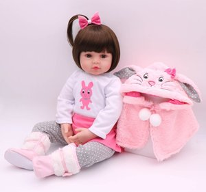 48CM bebe Puppe wieder geboren Babypuppe Handmade Silikon adorable reborn Kleinkind Bonecas Mädchen Kind menina de Silikonpuppe surprice LJ200827
