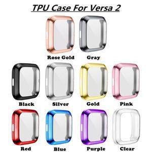 500pcs morbido placcatura TPU riguarda i casi per Fitbit Versa 2/1 Super Slim cassa del respingente full frame ProtectorSmart Guarda Accessori