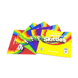 Skittles 400mg Sacos de Mylar vazia medicado Starburst Gummies Sour arco-íris Edibles doce gomoso do arco-íris Zipper Packaging