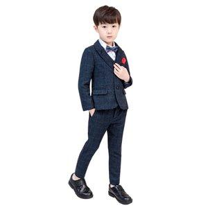 New Boys' Clothing Children Boys Plaid Suit Set for Wedding Kids Blazer Vest Pant 3Pcs Set Child Party Suits Formal Costumes