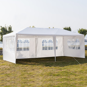 10x20Ft Outdoor Canopy Party Wedding Tent Heavy Duty Gazebo Pavilion White 3x6m Gazebo Pavilion Cater Events US Stock