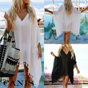 Meihuida Womens Bikini-Vertuschung-Badebekleidungs-Strand-Maxi Wrap Sarong Kimono Kaftan Kleid