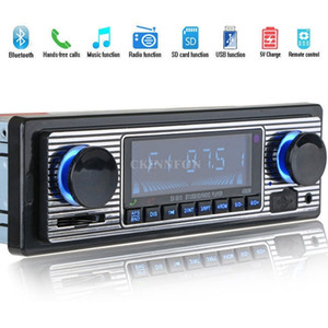 10Pcs Lot LCD Car Kit Bluetooth CD MP3 Player USB AUX Stereo USB FM Radio In Dash Receiver 5513