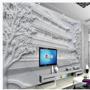 3d murals wallpaper for living room landscape painting relief wallpapers background wall 3D background wall