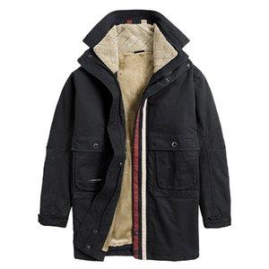 Winter Oversize Warm Thick Parka Men Padded Fleece Tactical Windbreaker Jacket Male Winter Puffer Jacket Men Casual Coats