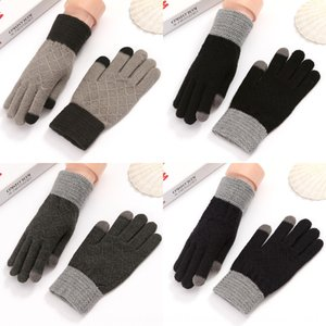 Winter Warm men's knitted wool electric car women's bicycle full Warm electrombile gloves finger gloves