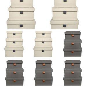 Nordic semplici abiti morbidi vestiti scatola di cuoio camera a tre pezzi ornamenti di stoccaggio cont stanza del campione