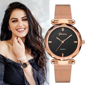 2019 Melhor Vender Mulheres Relógios Genebra Moda Classic Hot Sale Luxo de aço inoxidável quartzo analógico de pulso Relógio feminino