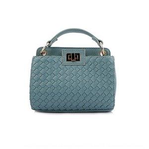 Guangzhou 2019 yeni Kore tarzı moda el el dokuma bagmetal kilit dokuma çanta kadın çantası 8NwOV