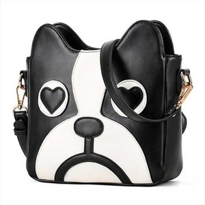 High quality Women bag 2020 New hit color Fashion handbags PU leather Sweet ladycartoon cute little dog pack Shoulder Female bag