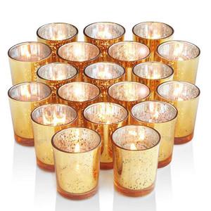 6Pcs обету подсвечник Ртуть стекла Tealight Подсвечник для свадеб Hotel Cafe Bar Украшения