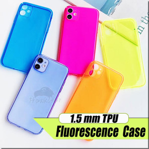 Soft TPU transparente colorida de la caja del teléfono Borrar protege los casos de la cubierta a prueba de golpes suaves para iPhone 11 pro max 7 8 + X XS HUAWEI