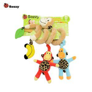 Wrap Doll Muñeca Multi Baby Función de regalo Relleno Multi Juguete Música Color Peluche Bed Juguete Animal Lindo Wexlg