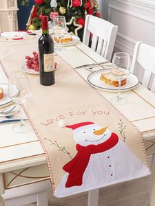 Decoración de Navidad Home Meal ropa de mesa Runner occidental restaurante Hotel Mesa Mantel Mat diseño