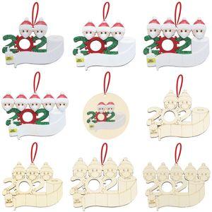 Christmas Tree Decorations Xmas Ornaments Snowman Mask Santa Claus Home Pendants Quarantine Family Merry Christmas Decoration