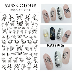 Eco-friendly1 Sheet 3D Nail Sticker Butterfly Transfer Beautiful For Nails Adhesive Decals Sticker Decors DIY Accessorie Random Color