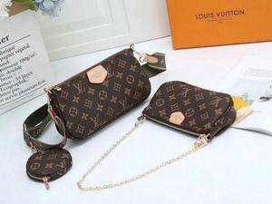 Высокое качество Дизайнер черный пу женские сумки плеча мешки Кроссбоди сумки сумка + Mini сумка + Портмоне моды 3 шт набор
