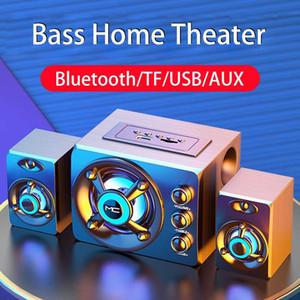 2020 Combinazione LED Computer Speakers AUX USB Audio System Wired senza fili Bluetooth Home Theater Surround SoundBar per PC TV