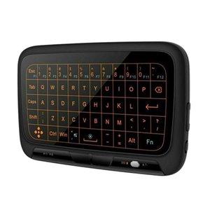 Android TV Box PC RPI'nin için H18 Artı 2.4GHz Mini Kablosuz Klavye Arkadan aydınlatmalı Tam Dokunmatik Klavye Büyük Dokunmatik Yüzey H18 + Uzaktan Kumanda