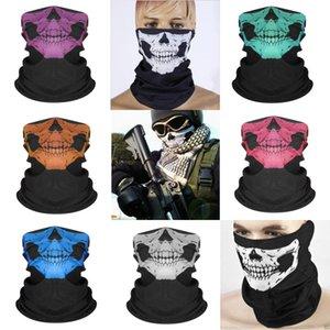 Mode Halloween Skull Foulard Bandana Imprimer Masques Nouveauté Cyclisme Coiffures transparente Parti écharpe magique Wraps Bandanas Iia211 # 248
