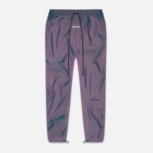20FW FG Laser Reflection pista pantaloni con coulisse Pantalone elastico in vita Tooling pantaloni di nylon Sweatpants Via Pantaloni Sport HFYMKZ258