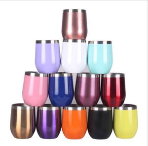 Sippy Яичные Чашки из нержавеющей стали вина Стаканы с вакуумной изоляцией термос U-образный Яйцо бутылки Креативность воды Бутылки Coffe молока Кружки LSK889