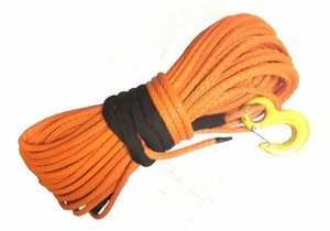 12mm * 30m Orange Synthetic Winch Rope With Hook For 4X4 4WD ATV UTV OFF-ROAD 8JMC#