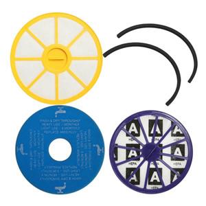 Pre Waschbar Post Motor HEPA-Staubsauger Filter Seals Kit Für DC14 Gelb + Blau + lila