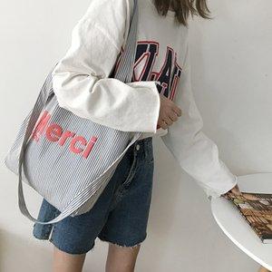 Frauen-Segeltuch-Schulter-Beutel Seestreifen Design Weibliche Tuch Umhängetaschen Gelegenheits Tote große Kapazitäts-Bücher Handtasche für Mädchen