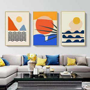 Colorful Landscape Poster Modern Abstract Canvas Painting Nordic Wall Art Print Decorative Picture Living Room Home Decoration