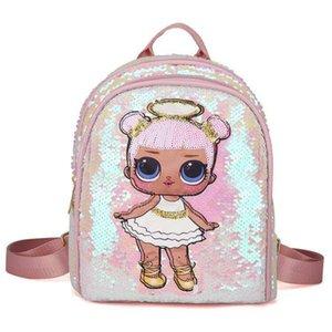 LOL اللعب مفاجأة مدرسة الأطفال طباعة لطيف الاطفال دمى 3d حقيبة الكرتون plecak حقيبة الظهر أنيمي لطيف الفتيات xsoeq