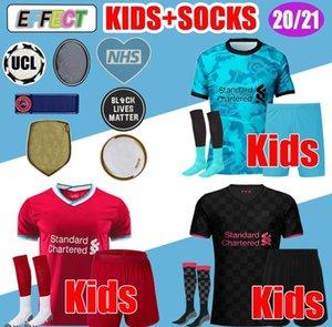 Kit New Kids Mohamed Salah Firmino Jersey di calcio dei ragazzi magliette di calcio giovanile 20 21 VIRGIL MANE A.BECKER 2020 2021 uniformi