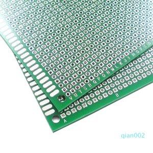 حلبة المجلس 6X8cm DIY نموذج ورقة PCB العالمي مزدوجة مجلس جانبية 1.6mm و2.54MM الألياف الزجاجية