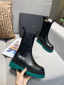 estilo caliente de diseño de alta calidad botas de la marca del diseñador negro, hebilla plataforma de Boo de las mujeres cremallera corta tobillo botas de cuero de las señoras cargadores de Martin