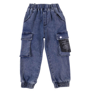 Fashion soft denim boys jeans kids jeans casual boys trousers kids trousers Cargo Pants teenager boys clothes kids clothing retail B2204
