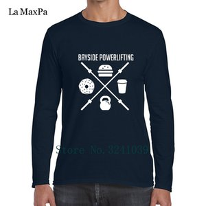 Anlarach Bayside Powerlifting Lift To Eat Tee Shirts Cute T-Shirt Mens winter Cotton Simple Male T Shirt