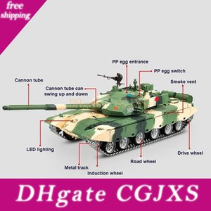 1 :16 Chinese Ztz 99a Mbt 2 .4g Remote Control Model Military Tank With Sound Smoke Shooting Effect -3 Version