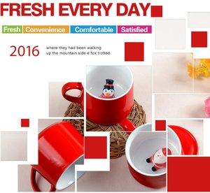 2020 400ML الجديد الكؤوس 3D صباح أكواب عيد الميلاد سانتا كلوز أكواب القهوة الحيوان السيراميك القدح قبرصي