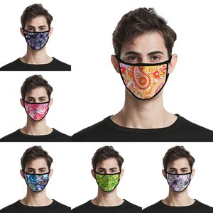 Paisley 3D печати моды маска для лица хлопок многоразовые маски для лица из дверей Спорт езда Маски Хлопковые дизайнерские маски