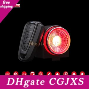 Antusi A8 Automatic Brake Taillight Remote Bicycle Rear Light Wireless Bell Road Bike Anti -Theft Alarm Lock A0 7 Colors Mtb Lamp