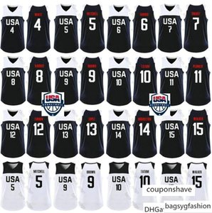 Чемпионат мира по США команды Баскетбол Kemba 15 Уокер 10 Джейсон Татум 5 Донован Митчелл Крис Миддлтон Джо Харрис 9 Джейлен Браун трикотажных изделий