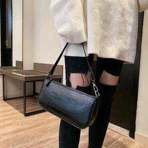 Retro Imitation Alligator-Muster-Frauen-Kurier-Handtaschen-beiläufigen Schulter-Beutel für Frauen 2020 Imitation Krokodil Bolsas Tasche