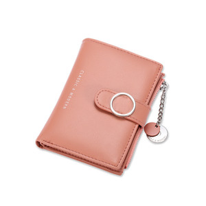 2020 New Women Wallet Simple Retro Short Wallet Coin Purse Card Holders Handbag Girls Purse Ladies Bolsa Feminina Fashion Money Clip Wallet