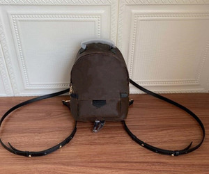 Сумочка модные сумки рюкзак женские пальмовые пружины мини бренда натуральная кожа девушка рюкзаки леди печатая кожаный рюкзак