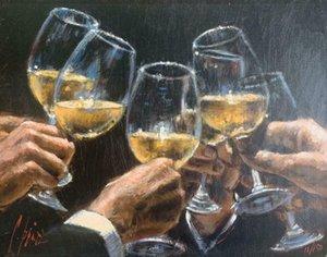 Açık Tuval Wall Art Canvas Resimler 200.808 Boyama Daha İyi Bir Hayat Şarap Cam Cheer Ev Dekorasyonu El Sanatları / HD Baskı Yağ İçin Fabian Perez